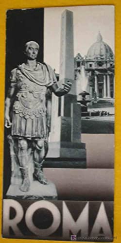 FOLLETO TURÍSTICO : ROMA (Tourist brochure).