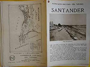 FOLLETO TURÍSTICO : SANTANDER (Tourist brochure).