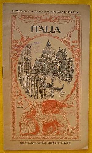 FOLLETO TURISMO : ITALIA: DEPARTAMENTO OFICIAL ITALIANO PARA EL TURISMO