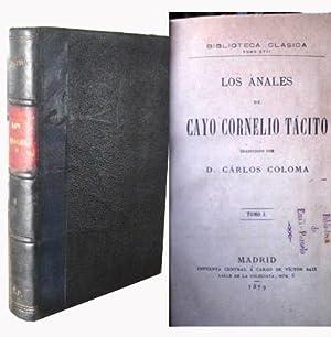 LOS ANALES. Tomo I. Libro I, II, III, IV, V, VI.: CAYO CORNELIO T�CITO