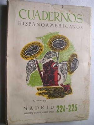 CUADERNOS HISPANOAMERICANOS n 224-225: AAVV