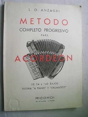 MÉTODO COMPLETO PROGRESIVO PARA ACORDEÓN. DE 24: ANZAGHI, L.O.