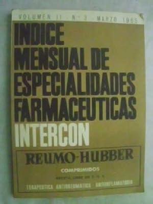 ÍNDICE MENSUAL DE ESPECIALIDADES FARMACÉUTICAS INTERCON. Volumen: AAVV