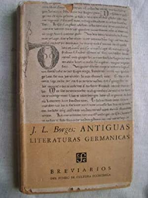 ANTIGUAS LITERATURAS GERMÁNICAS: BORGES, Jorge Luis