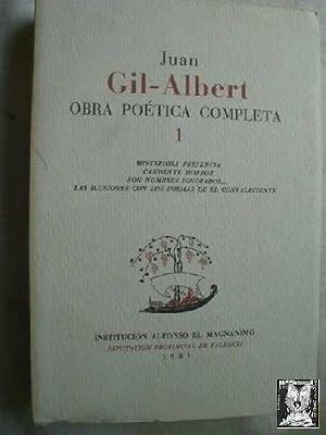 OBRA POÉTICA COMPLETA 1: GIL-ALBERT, Juan
