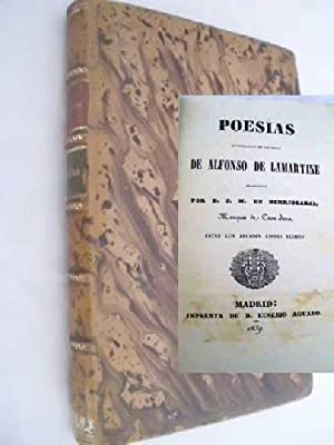 POESÍAS: DE LAMARTINE, Alfonso