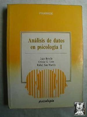 ANÁLISIS DE DATOS EN PSICOLOGÍA 1: BOTELLA, Juan/ LEÓN,