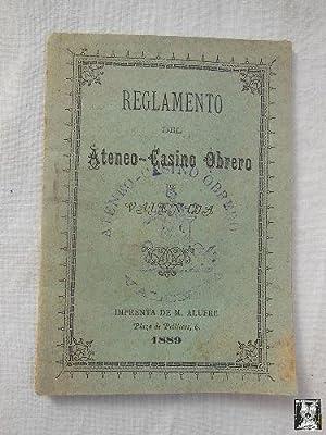 REGLAMENTO DEL ATENEO - CASINO OBRERO DE VALENCIA.: MARCO ROMERO Juan Bta (Presidente Sociedad)