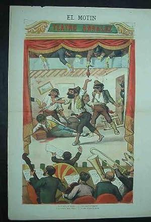 EL MOTÍN - Periódico Satírico Semanal. N 13 - 1 abril 1883. Con LÁMINA ...