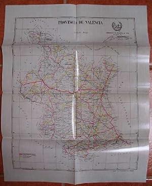Plano de las carreteras nacionales, provinciales y caminos vecinales de la provincia de Valencia: ...