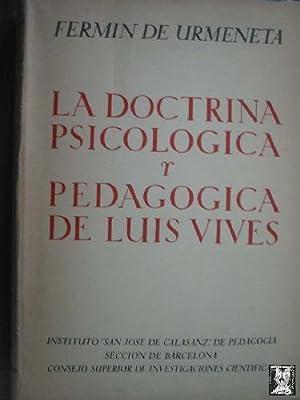 LA DOCTRINA PSICOLÓGICA Y PEDAGÓGICA DE LUIS VIVES: URMENETA, Fermín de