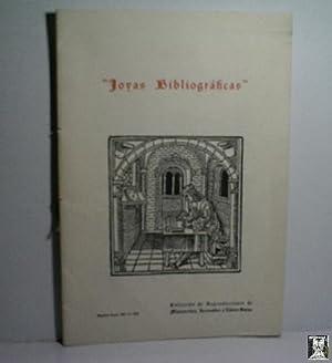 JOYAS BIBLIOGRÁFICAS. COLECCIÓN DE REPRODUCCIONES DE MANUSCRITOS,: Sin autor