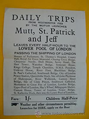 Folleto Publicidad - Advertising Brochure : DAILY TRIPS from Westminster Pier by Mutt.