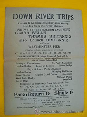 Folleto Publicidad - Advertising Brochure : DOWN RIVER TRIPS