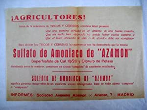 Folleto Publicidad - Advertising Brochure : SULFATO DE AMONÍACO DE AZAMÓN