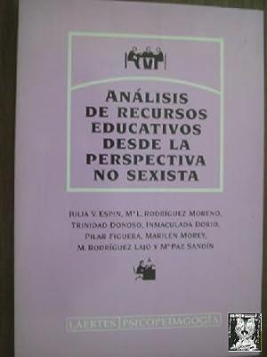 ANÁLISIS DE RECURSOS EDUCATIVOS DESDE LA PERSPECTIVA NO SEXISTA: ESPIN, Julia V./ RODRÍGUEZ ...