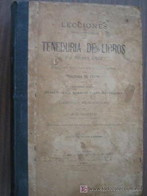 LECCIONES TEÓRICO-PRÁCTICAS SOBRE TENEDURÍA DE LIBROS: GIANNETTI, Juan