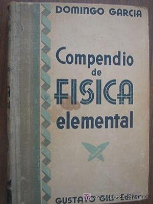 COMPENDIO DE FÍSICA ELEMENTAL: GARCÍA, Domingo