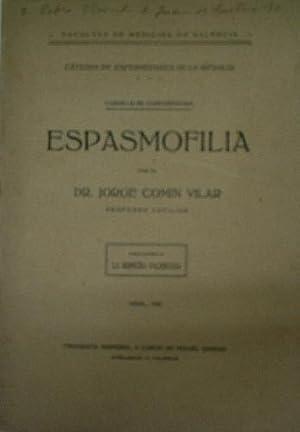 CURSILLO DE CONFERENCIAS. ESPASMOFILIA: COMIN VILAR Jorge