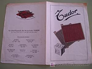 Folleto publicidad - Brochure advertising : PLACA ACUMULADOR + CONEXIONES TUDOR