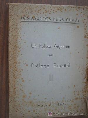 LOS ASUNTOS DE LA CHADE: Sin autor