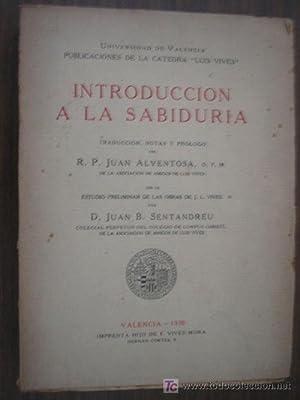 INTRODUCCIÓN A LA SABIDURÍA: VIVES J.L.