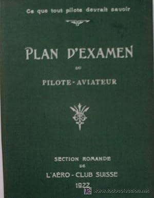 PLAN D'EXAMEN POUR LES PREUVES THEORIQUES DU BREVET NATIONAL SUISSE DE PILOTE-AVIATEUR: Sin ...