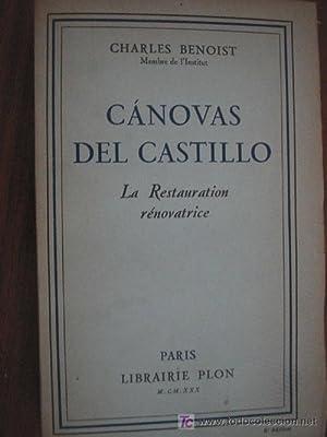 CÁNOVAS DEL CASTILLO: BENOIST, Charles