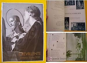 CREVILLENTE. Folleto Exaltación de la Semana Santa Crevillentina. 1959: PATRONATO