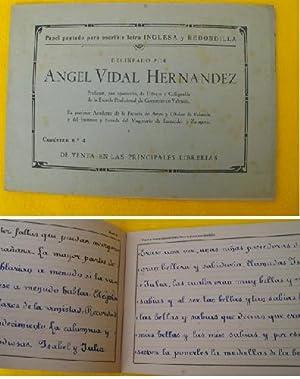 PAPEL PAUTADO PARA ESCRIBIR LETRA INGLESA Y REDONDILLA. Cuaderno nº4: VIDAL HERNÁNDEZ Ángel
