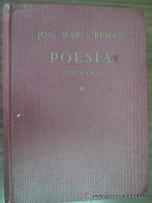 POESÍA. Antología (1917-1941): PEMÁN, José María