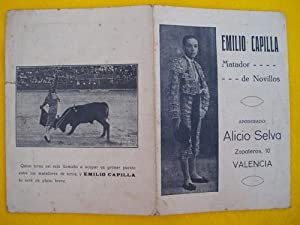 Folleto publicidad - Advertising Brochure : EMILIO CAPILLA matador de novillos