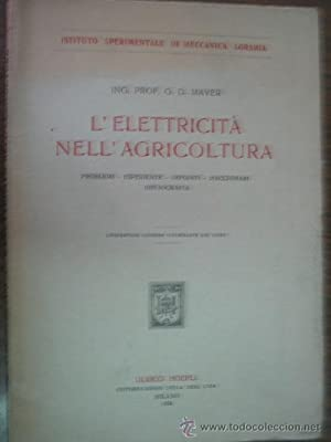 L ELECTRICITÀ NELL AGRICOLTURA: MAYER, G.D.