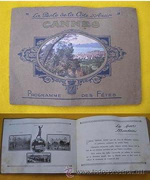 Programme des Fêtes - Programa de Fiestas : CANNES 1925: Sin autor
