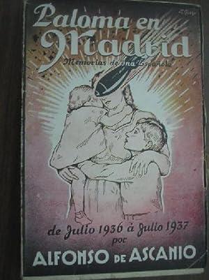 PALOMA EN MADRID: ASCANIO, Alfonso de