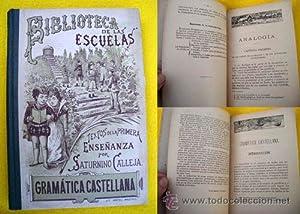 GRAMÁTICA CASTELLANA: CALLEJA FERNÁNDEZ Saturnino