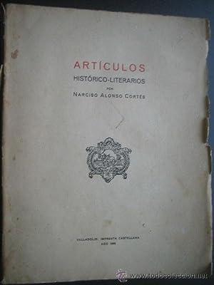 ARTÍCULOS HISTÓRICO-LITERARIOS: ALONSO CORTÉS, Narciso