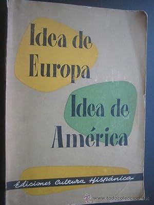 IDEA DE EUROPA. IDEA DE AMÉRICA: Sin autor