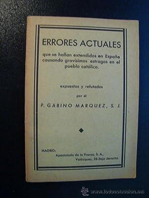 ERRORES ACTUALES: GABINO MÁRQUEZ, P.