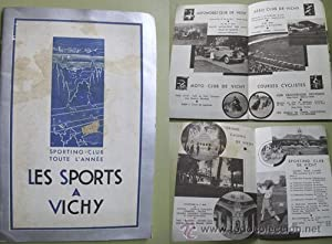 Folleto Turismo - Tourist Brochure : LES SPORTS A VICHY - 1933: COMITÉ DU SPORTING CLUB