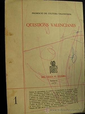 QÜESTIONS VALENCIANES. Nº 1: AAVV