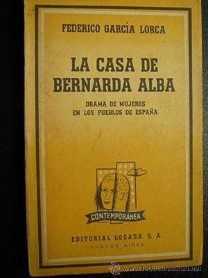 LA CASA DE BERNARDA ALBA: GARCÍA LORCA, Federico