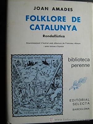 FOLKLORE DE CATALUNYA (tomo 1): AMADES, Joan