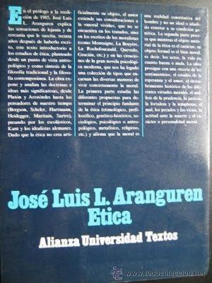 ÉTICA: ARANGUREN, José Luis