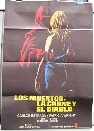 Cartel cine - Movie Poster : LOS MUERTOS, LA CARNE Y EL DIABLO - Original: OLIVEIRA José María (...