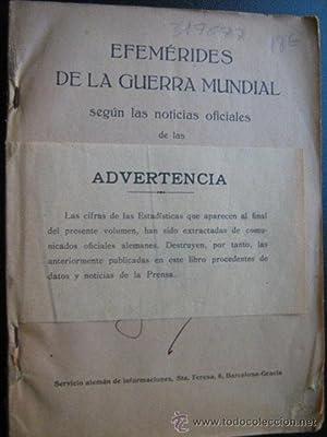 EFEMÉRIDES DE LA GUERRA MUNDIAL: Sin autor