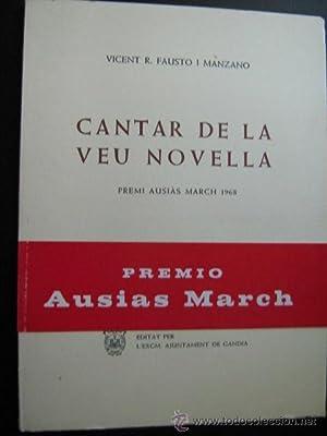 CANTAR DE LA VEU NOVELLA: FAUSTO I MANZANO, Vicent R.