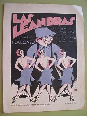 Partitura - Score : LAS LEANDRAS. Nº: ALONSO Francisco (Música),