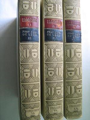DE LOS NOMBRES DE CRISTO (3 volúmenes): DE LEÓN, Fray Luis