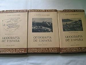 GEOGRAFÍA DE ESPAÑA (3 volúmenes): MARTÍN ECHEVARRÍA, L.